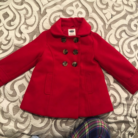 Old Navy Other - Classic Old Navy Red Peacoat sz 3T